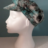 Butchers Boy Hat in Green Tie Dye Fabric