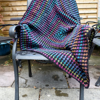 Large Crochet Granny Square Baby Cot Blanket or Lap Blanket