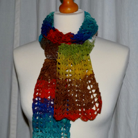 Crochet Scarf in Noro Sekku Laceweight Silk Blend Yarn