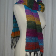 Handwoven Scarf in Noro Silk yarn