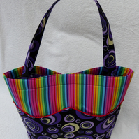 Rainbow Pocket Bag. Fully Lined. Inside Pocket. Magnetic Clasp.
