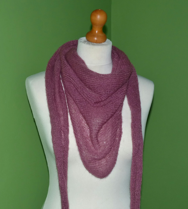 Pink Mohair Scarf