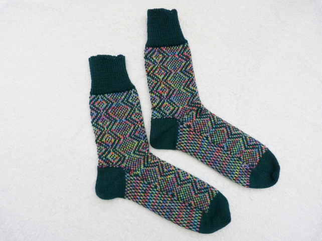 Fair Isle Pattern Socks Womens size UK 6 - 7