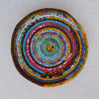 Medium Fabric Coil Basket in Multicolours.