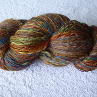 155g Hank of  Handspun Plant Dyed Wool