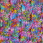 Extreme Knit Blanket in Basket Weave Stitch. Super Chunky Blanket. Rainbow