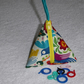 Stitch Marker Holder. Mini Pyramid Purse. Sewing Notions Holder