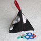 Stitch Marker Holder. Mini Pyramid Purse. Sewing Notions Holder. Knitting Sheep