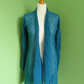 Custom Order For Sarah. Mohair Cardigan in Petrol.  size 12-14