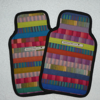 Patchwork Hot Water Bottle Cover. Stripes.