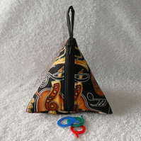 Stitch Marker Holder. Mini Pyramid Purse. Sewing Notions Holder. Instruments