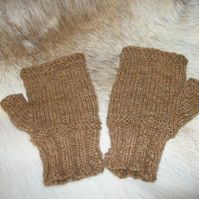 Fingerless Alpaca Gloves Knitting Pattern. PDF Knitting Pattern