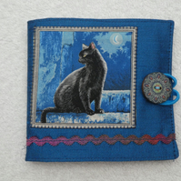 Sewing Needle Case with Black Cat