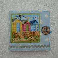 Sewing Needle Case with Beach Huts and Bunting