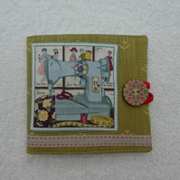 Sewing Needle Case with Sewing Machine Applique Panel