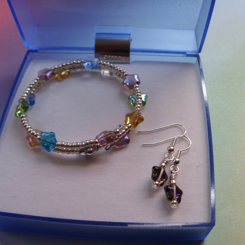 Stars Bracelet & Earrings Gift Set