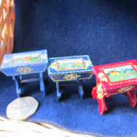 12th scale traditional Narrowboat stool