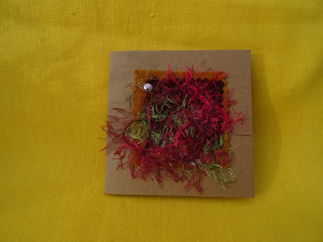 Multi colour abstract textile card