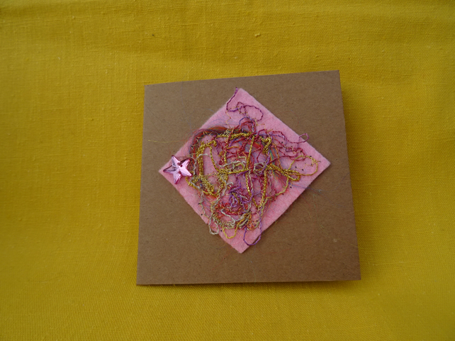 Abstract Textile card