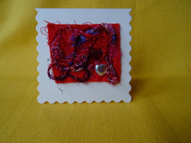 Mini Abstract Textile Card
