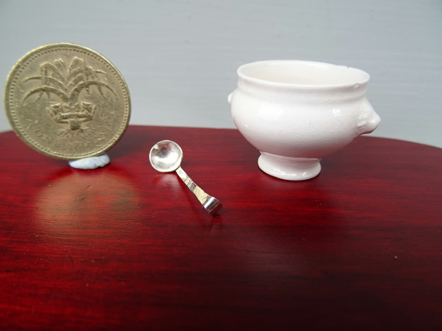 12th scale Silver Serving ladle