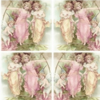 2 x Paper Napkins for Decoupage, Serviette, 3ply, 33cm, Vintage Angels