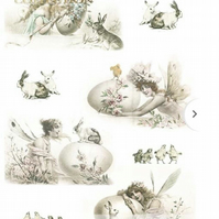 A4 Decoupage Paper, Smooth, Soft, Scrapbooking, rabbits