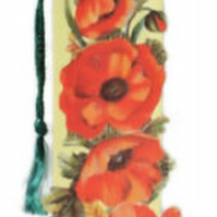 Vintage Themed Bookmark Greetings Card by Mamelok England, Flowers