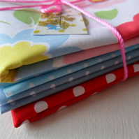 4 Fat Quarter Fabric Bundle (Brights)