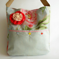 Messenger Bag in Vintage Rose Fabric