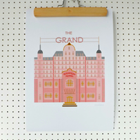 Grand Budapest Hotel Inspired Art Print