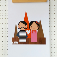 Love Print Poster A3