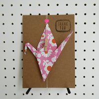 Origami Thank you Card Decoration Detachable Gift