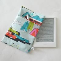 Kindle Paperwhite Case Sleeve Padded Protective Cover in Retro Transport Print