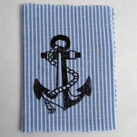 Nautical hand-printed needle and pin books