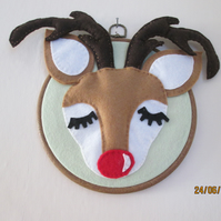 Christmas Reindeer wall hanging decoration