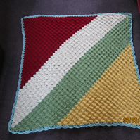 Autumn coloured, hand crochet , blanket for baby or old person