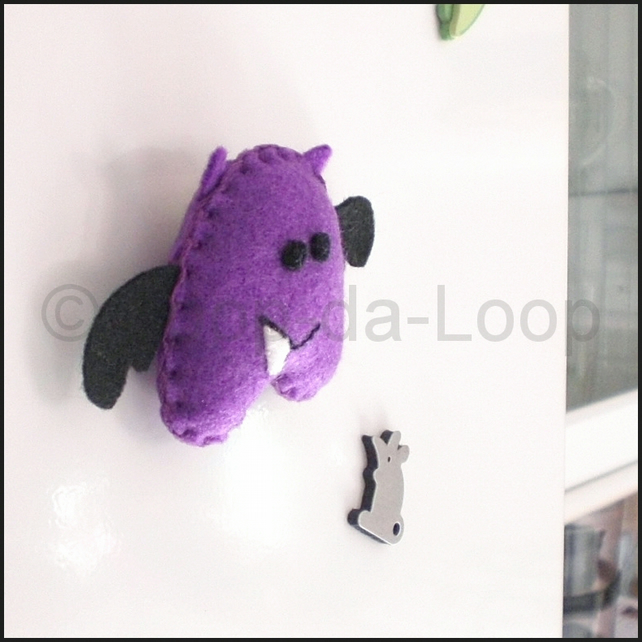 Welch the Grape Bat fridge magnet