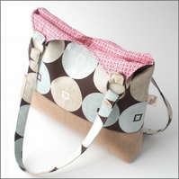 SALE 40% OFF - Retro circles shoulder bag
