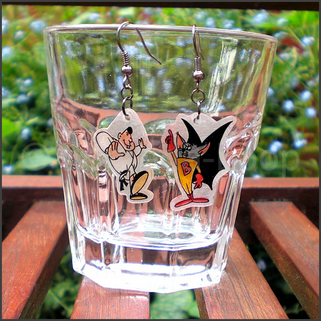 Batfink earrings