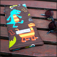 Dinosaurs sunglasses case