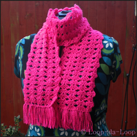 Sparkly hot pink scarf