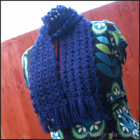 Sparkly dark blue scarf