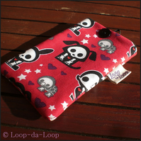 Red skelanimals mobile phone pouch (small)