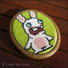 Raving Rabbids inspired mini cross stitch
