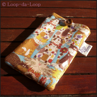 Cute cats mobile phone pouch (small)