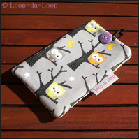 Cute owls mobile phone pouch (small)