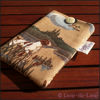 Hunting spaniel mobile phone pouch (small)