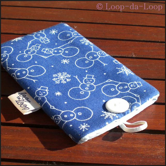 Snowmen mobile pouch (small)