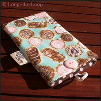 Turquoise chocolates mobile pouch (small)